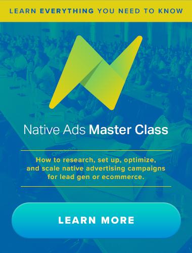 Native Ads Master Class